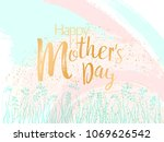 mother's day vector card. blue... | Shutterstock .eps vector #1069626542