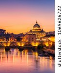 Rome Skyline With Vatican St...