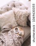 still life details of nordic... | Shutterstock . vector #1069630355