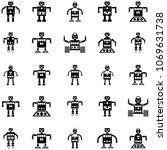robot icon set | Shutterstock .eps vector #1069631738