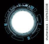 design of round hud user... | Shutterstock .eps vector #1069632038