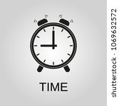 time icon. time symbol. flat... | Shutterstock .eps vector #1069632572