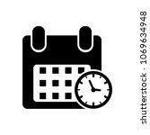 calendar and clock icon. date... | Shutterstock .eps vector #1069634948