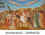 palm sunday in the jerusalem | Shutterstock . vector #10696426