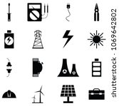 electricity icon set | Shutterstock .eps vector #1069642802