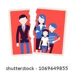family breakup problem. photo... | Shutterstock .eps vector #1069649855