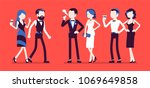 high society party. group of... | Shutterstock .eps vector #1069649858