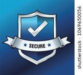 security shield illustration... | Shutterstock .eps vector #1069650056