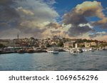city of istanbul on a cloudy day   Shutterstock . vector #1069656296