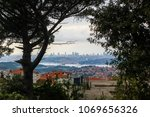 city of istanbul on a cloudy day   Shutterstock . vector #1069656326
