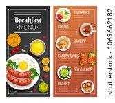 breakfast menu design for cafe... | Shutterstock .eps vector #1069662182