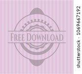 free download pink emblem. retro