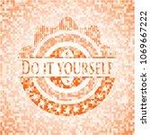 do it yourself orange mosaic... | Shutterstock .eps vector #1069667222