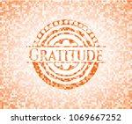 gratitude orange mosaic emblem... | Shutterstock .eps vector #1069667252