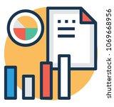 business revenue graph vector... | Shutterstock .eps vector #1069668956