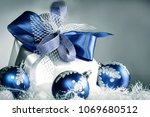 closeup .christmas gift and... | Shutterstock . vector #1069680512