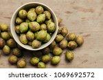 ceylon oak on wooden table... | Shutterstock . vector #1069692572