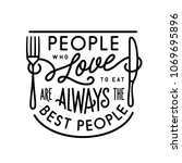 people who love to eat kitchen... | Shutterstock .eps vector #1069695896