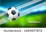 soccer or football banner with... | Shutterstock .eps vector #1069697876