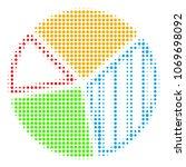 pie chart halftone vector icon. ... | Shutterstock .eps vector #1069698092