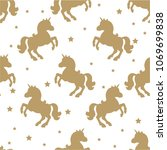 seamless pattern with gold... | Shutterstock .eps vector #1069699838