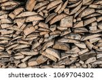 firewood for the winter  stacks ... | Shutterstock . vector #1069704302