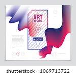 vector of modern abstract shape ... | Shutterstock .eps vector #1069713722