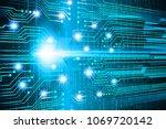 binary circuit board future... | Shutterstock .eps vector #1069720142