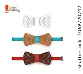 laser cut bow tie template for... | Shutterstock .eps vector #1069720742