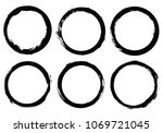 grunge circles.vector grunge... | Shutterstock .eps vector #1069721045