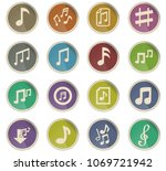 musical notes web icons in the... | Shutterstock .eps vector #1069721942