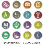 pharmacy vector icons in the... | Shutterstock .eps vector #1069722596