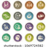 office life web icons in the... | Shutterstock .eps vector #1069724582