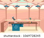 illustration of a woodworking... | Shutterstock .eps vector #1069728245