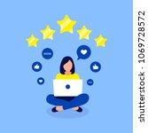 rating  feedback design concept.... | Shutterstock .eps vector #1069728572