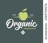 organic products logotype... | Shutterstock .eps vector #1069735076