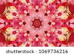 geometric design  mosaic of a... | Shutterstock .eps vector #1069736216