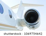 private business aircraft  | Shutterstock . vector #1069754642