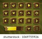 vector cartoon set of buttons....