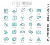 collection of entertainment... | Shutterstock .eps vector #1069760738