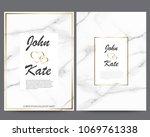 elegant creative business cards ... | Shutterstock .eps vector #1069761338