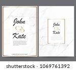 elegant creative business cards ... | Shutterstock .eps vector #1069761392
