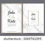 elegant creative business cards ... | Shutterstock .eps vector #1069761395