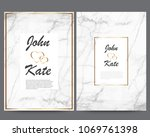 elegant creative business cards ... | Shutterstock .eps vector #1069761398