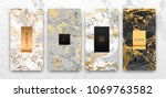 gold  black  white marble... | Shutterstock .eps vector #1069763582