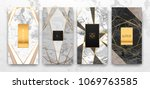 gold  black  white marble... | Shutterstock .eps vector #1069763585