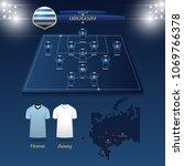 team uruguay soccer jersey or... | Shutterstock .eps vector #1069766378