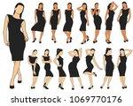 set of colored vector...   Shutterstock .eps vector #1069770176