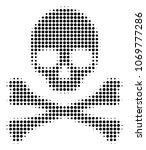 death skull halftone vector... | Shutterstock .eps vector #1069777286