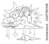 illustration for adult coloring ... | Shutterstock .eps vector #1069782548